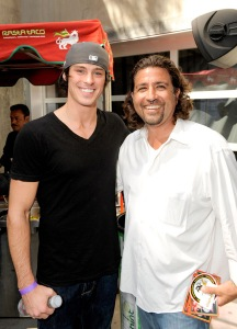 Adam Gregory (L) attends the Kari Feinstein Primetime Emmy Awards style lounge at Zune LA on September 18, 2009 in Los Angeles, California.