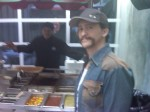 Clifton Collins Jr., actor, Golden Globes, Kari Feinstein Style Lounge, Zune LA, Rasta Taco, Celebrity, pictures, catering, taco cart
