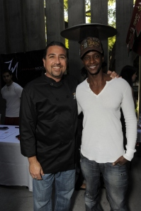 Edi Gathegi, Golden Globes, Kari Feinstein Style Lounge, Zune LA, Rasta Taco, Celebrity, pictures, catering, taco cart