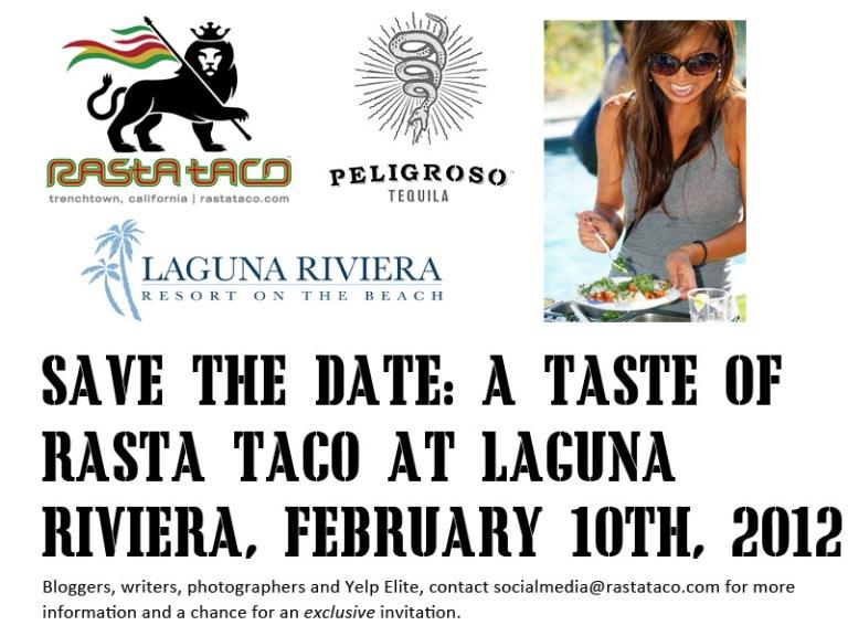Rasta Taco taco catering tasting in Laguna Beach